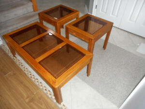 3 Pc Coffee & End Table Set - Mint Condition