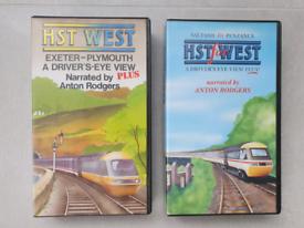 Railway HST cab ride VHS videos x 2