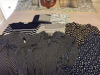 Amazing Bundle of 9 Maternity Tops size XS and S