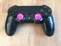 PS4 OFFICIAL CONTROLLER PAD WITH PURPLE ALUMINIUM ANALOG STICKS