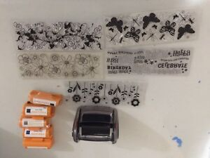 Fiskar Continuous stamp with additional stamps and inks