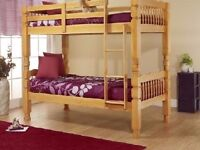**10 DAYS MONEY BACK GUARANTY** Cheapest BUT Strongest Wooden Bunk bed Easy Covetable To 2xSingles