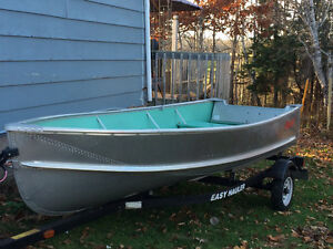 14.5' aluminum with trailer and motor