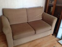 Spacious 2 seater sofa bed dark sand immaculate condition