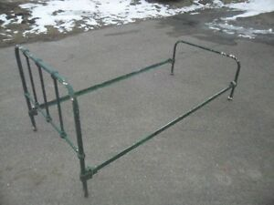 """""""OLD"""" ANTIQUE GREEN BED FRAME A TRUE PIECE. [OBO]!!!"""