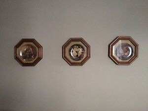 Norman Rockwell plates in frames Stratford Kitchener Area image 1