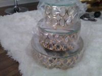 Backdrop decor/cake stand for rental. $75 flat fee