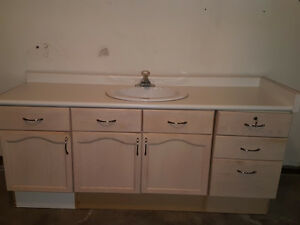 Bathroom Vanity with Sink and Faucet