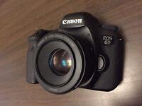 Canon 6D, Canon 50mm 1.8 STM and Lowepro shoulder bag