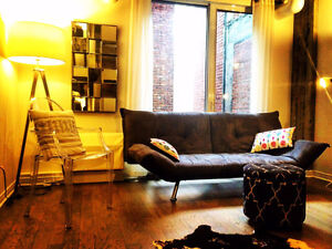 Furnished condo downtown next to metro monthly lease