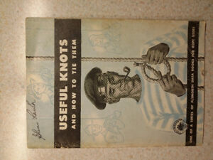 1946 Useful Knots and How to Tie Them Plymouth Data Books for Ro