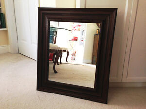 Dark Wood Framed Mirror