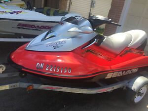 2004 seadoo gtx supercharged and trailer