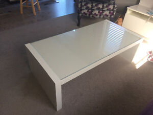 White IKEA Coffee Table + End Table