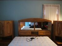 Headboard and night stands