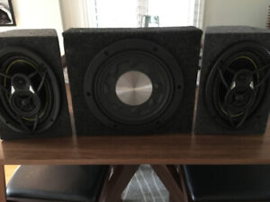 Car Sound System - Amplifier, speakers and subwoofer