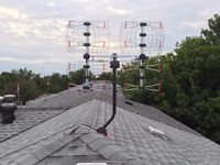 Professional OTA HD TV Antenna installation service.