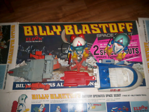 Vintage  billy blaster space toy