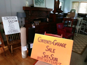 Huge house and content sale on sat and sun at 18975 Dufferin st