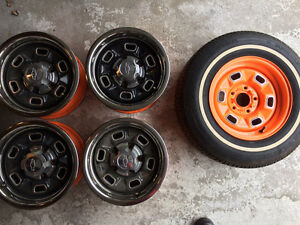 14 Inch GM Rally rims and assorted parts from 2nd Gen Camaro
