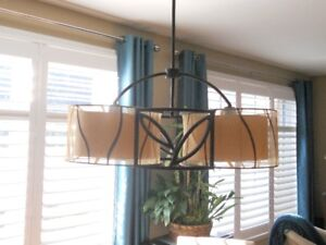 Chandelier and 2 Pendant Lights