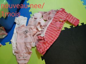linges bebe fille 0-18mois