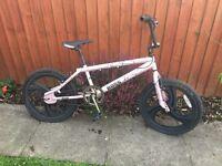 Light pink bmx bike