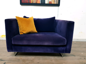 Designers Guild armchair in purple velvet RRP £1600