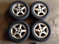 185/65/14 Michelin winter tires Honda alloy rims
