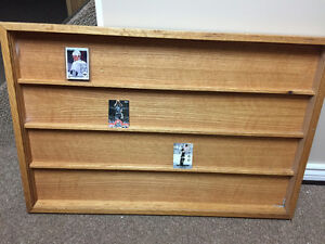 Solid Oak - Sports Card Display Case