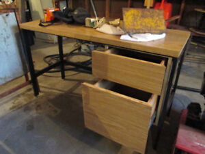 Solid Office Desk with Drawers