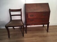 Antique Bureau and chair with free delivery within London