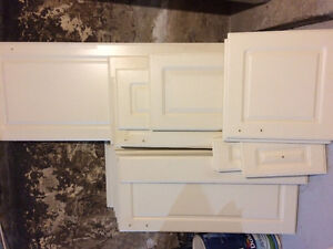 Cream solid wood cabinet doors and drawer fronts