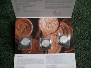 2 Royal Canadian Mint Silver coins sets