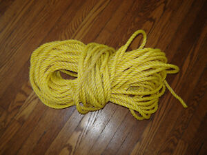 "Poly twisted rope - 150 ft - 1/4""and 3/8"" - sep.prices London Ontario image 2"