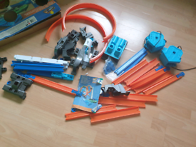 Hot Wheels Track Builder sets 35+ parts and second one smaller set.