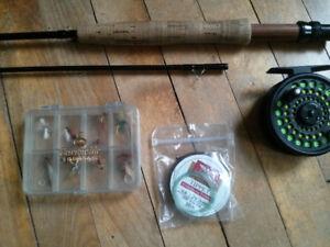 Fly Rod, Reel, Flys, Tippet - complete set
