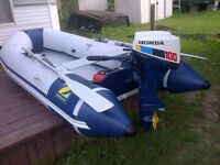 10 Ft Zodiac with 10 hp Honda outboard Motor