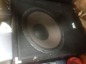 Bass subs for PA