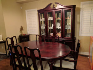 Gorgeous cherrywood dining room set and hutch