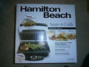 BRAND NEW Hamilton Beach Indoor Searing Grill For Sale