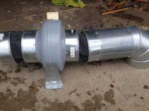 Elicent shop extractor fan with ducting bellows