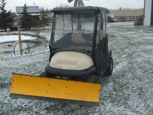 Cart with snow plow, golf cart, off road vehicle
