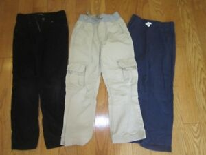 Size 6 pants - I pair cords, twill pull on and jogging