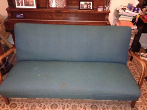 Solid used couch great for garage or man cave