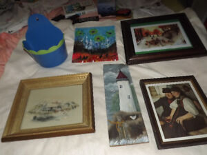 THREE PICTURES AND A PAINTING