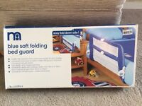 Mothercare soft folding bed guard.