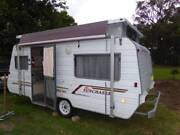 WINDSOR SUNCHASER POP TOP CARAVAN - 2 SINGLE BEDS Nelson Bay Port Stephens Area Preview