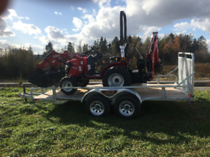 2018 TYM 254 Loader, Backhoe Trailer  **PACKAGE DEAL**