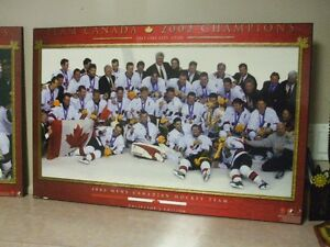 2002 mens canadian hockey team & womans plaques.